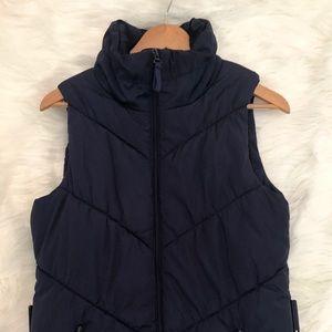 Zara Basic Navy Blue Large Warm Vest